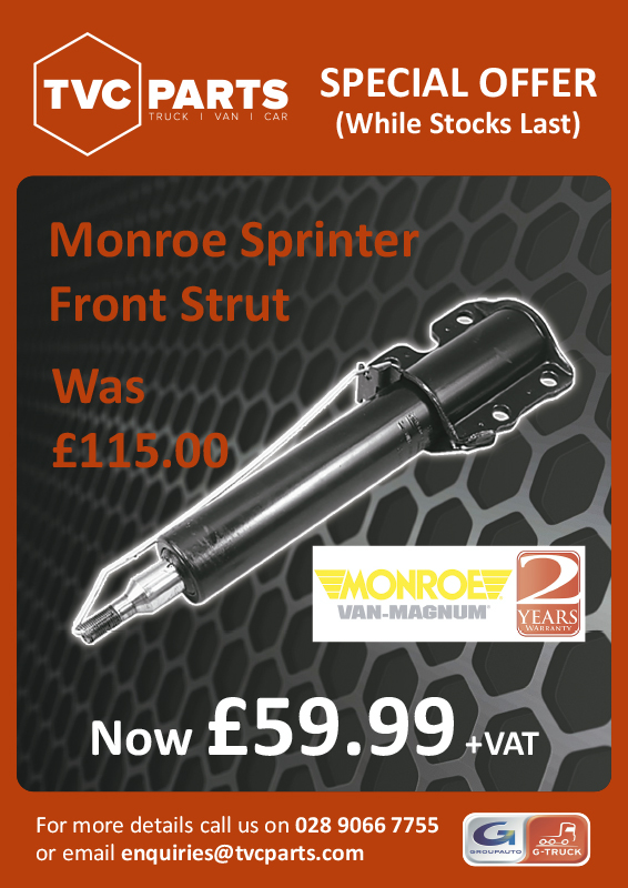Monroe Sprinter Front Strut Now £59.99 plus VAT
